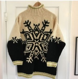 Express 100% Wool Ski Sweater
